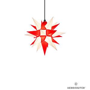 Advent Stars and Moravian Christmas Stars Herrnhuter Star A4 Herrnhuter Moravian star A4 white/red plastic - 40cm/16inch