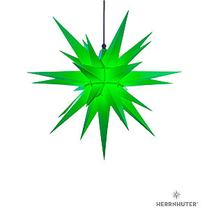 Advent Stars and Moravian Christmas Stars Herrnhuter Star A7 Herrnhuter Moravian star A7 green plastic - 68cm/27inch