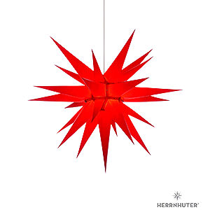Advent Stars and Moravian Christmas Stars Herrnhuter Star I7 Herrnhuter Moravian star I7 red paper - 70cm