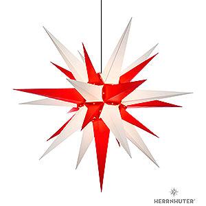 Adventssterne und Weihnachtssterne Herrnhuter Stern A13 Herrnhuter Stern A13 weiss/rot Kunststoff - 130cm