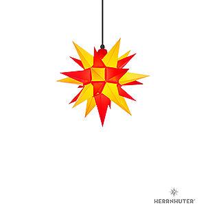 Adventssterne und Weihnachtssterne Herrnhuter Stern A4 Herrnhuter Stern A4 gelb/rot Kunststoff - 40cm