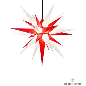 Bestseller Herrnhuter Stern A7 weiss/rot Kunststoff - 68cm