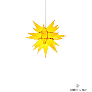 Adventssterne und Weihnachtssterne Herrnhuter Stern I4 Herrnhuter Stern I4 gelb Papier - 40 cm