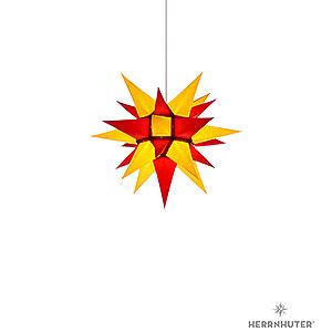 Adventssterne und Weihnachtssterne Herrnhuter Stern I4 Herrnhuter Stern I4 gelb/rot Papier - 40 cm