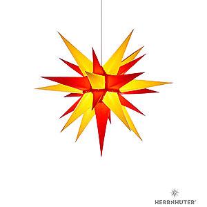 Adventssterne und Weihnachtssterne Herrnhuter Stern I6 Herrnhuter Stern I6 gelb/rot Papier - 60 cm