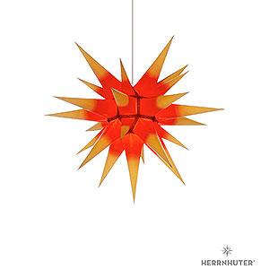 Adventssterne und Weihnachtssterne Herrnhuter Stern I6 Herrnhuter Stern I6 gelb/roter Kern Papier - 60 cm