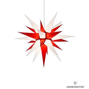 Adventssterne und Weihnachtssterne Herrnhuter Stern I6 Herrnhuter Stern I6 weiß/rot Papier - 60cm