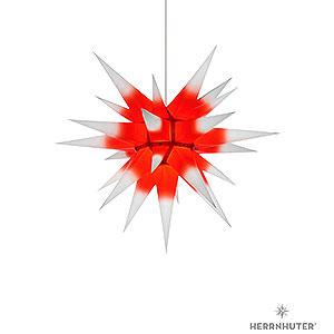 Adventssterne und Weihnachtssterne Herrnhuter Stern I6 Herrnhuter Stern I6 weiss/roter Kern Papier - 60cm