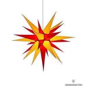 Adventssterne und Weihnachtssterne Herrnhuter Stern I7 Herrnhuter Stern I7 gelb/rot Papier - 70 cm