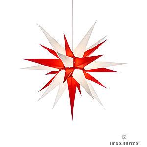 Adventssterne und Weihnachtssterne Herrnhuter Stern I7 Herrnhuter Stern I7 weiß/rot Papier - 70cm