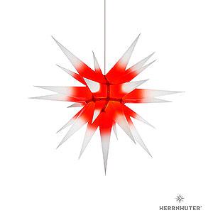 Adventssterne und Weihnachtssterne Herrnhuter Stern I7 Herrnhuter Stern I7 weiß/roter Kern Papier - 70cm