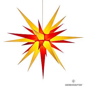 Adventssterne und Weihnachtssterne Herrnhuter Stern I8 Herrnhuter Stern I8 gelb/rot Papier - 80cm