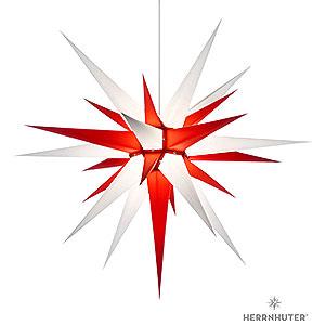 Adventssterne und Weihnachtssterne Herrnhuter Stern I8 Herrnhuter Stern I8 weiß/rot Papier - 80cm