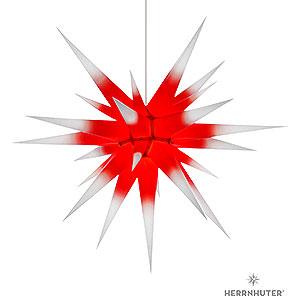 Adventssterne und Weihnachtssterne Herrnhuter Stern I8 Herrnhuter Stern I8 weiß/roter Kern Papier - 80cm