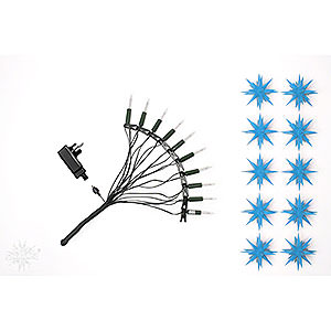 Adventssterne und Weihnachtssterne Herrnhuter Sternenketten Herrnhuter Sternenkette A1s blau Kunststoff - 12m