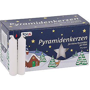 World of Light Candles High Quality Pyramid-Candles White - D=1.4 cm (0.55 Inch)