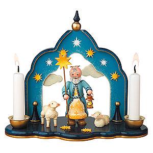 Weihnachtsengel Engel - weiß (Hubrig) Himmelstor - Petrus - 19x17 cm
