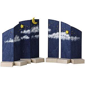 Weihnachtsengel Günter Reichel Schutzengel Hintergrund Nachthimmel - 13cm