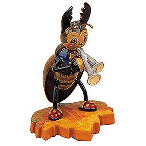 Kleine Figuren & Miniaturen Tiere Käfer Hirschkäfer mit Schalmei - 8cm