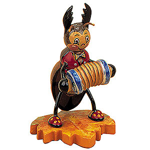 Kleine Figuren & Miniaturen Tiere Käfer Hirschkäfer mit Ziehharmonika - 8cm