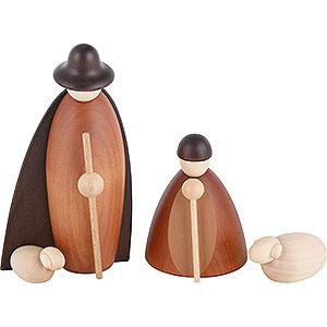 Kleine Figuren & Miniaturen Björn Köhler Krippe klein Hirtengruppe mit 2 Schafen - 11cm