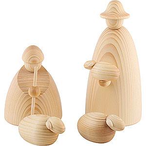 Kleine Figuren & Miniaturen Björn Köhler Krippe groß natur Hirtengruppe mit 3 Schafen, natur - 17 cm