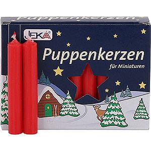 Lichterwelt Kerzen Hochwertige Puppenkerzen rot - 1,0 cm Durchmesser