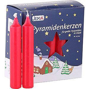 Lichterwelt Kerzen Hochwertige Pyramidenkerzen rot - 1,7 cm Durchmesser