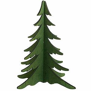 Schwibbögen Schwibbogen Zubehör Holz-Steckbaum grün - 19 cm