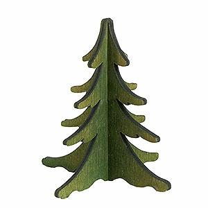 Schwibbögen Schwibbogen Zubehör Holz-Steckbaum grün - 8 cm