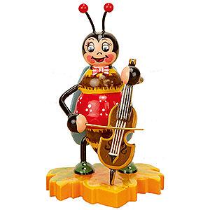 Kleine Figuren & Miniaturen Tiere K�fer Hummel mit Cello - 8cm