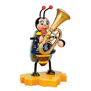Kleine Figuren & Miniaturen Tiere Käfer Hummel mit Tuba - 8cm