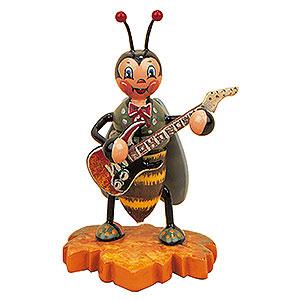 Kleine Figuren & Miniaturen Tiere Käfer Hummelmännchen mit E-Gitarre - 8cm