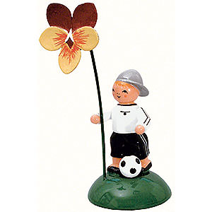 Kleine Figuren & Miniaturen Blumenkinder Junge mit Stiefmütterchen - 10 cm