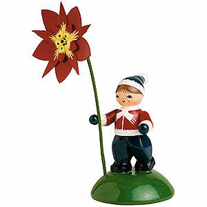 Kleine Figuren & Miniaturen Blumenkinder Junge mit Weihnachtstern - 6cm