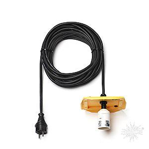 Adventssterne und Weihnachtssterne Herrnhuter Stern A13 Kabel für Aussenstern 29-00-A13, 10m schwarz, Deckel gelb, EU