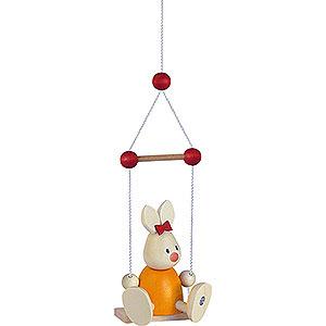 Kleine Figuren & Miniaturen Max & Emma (Hobler) Kaninchen Emma auf Schaukel  - 9cm