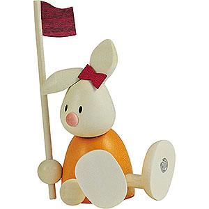 Kleine Figuren & Miniaturen Max & Emma (Hobler) Kaninchen Emma beim Golf - Fahne  - 9cm