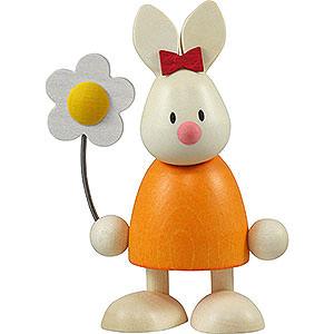 Kleine Figuren & Miniaturen Max & Emma (Hobler) Kaninchen Emma mit Blume  - 9cm
