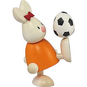 Kleine Figuren & Miniaturen Max & Emma (Hobler) Kaninchen Emma mit Fußball - 9cm