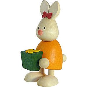 Kleine Figuren & Miniaturen Max & Emma (Hobler) Kaninchen Emma mit Geschenk  - 9cm