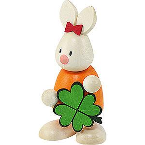 Kleine Figuren & Miniaturen Max & Emma (Hobler) Kaninchen Emma mit Kleeblatt - 9 cm