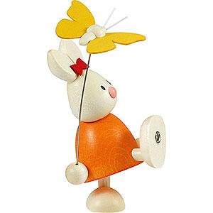 Kleine Figuren & Miniaturen Max & Emma (Hobler) Kaninchen Emma mit Schmetterling - 9 cm