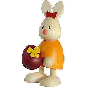 Kleine Figuren & Miniaturen Max & Emma (Hobler) Kaninchen Emma mit großem Ei - 9cm