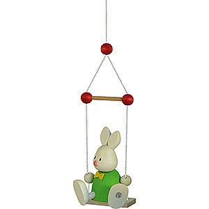 Kleine Figuren & Miniaturen Max & Emma (Hobler) Kaninchen Max auf Schaukel - 9cm