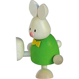 Kleine Figuren & Miniaturen Max & Emma (Hobler) Kaninchen Max auf einem Bein - 9 cm