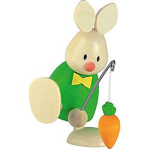 Kleine Figuren & Miniaturen Max & Emma (Hobler) Kaninchen Max mit Angel und Möhre - 9 cm