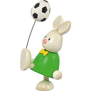 Kleine Figuren & Miniaturen Max & Emma (Hobler) Kaninchen Max mit Fußball - 9cm
