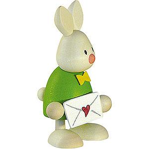 Kleine Figuren & Miniaturen Max & Emma (Hobler) Kaninchen Max mit Liebesbrief - 9cm