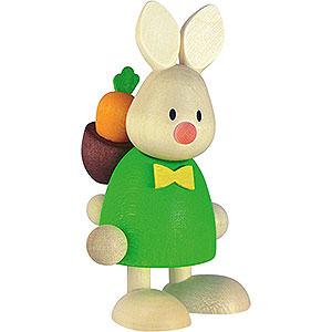 Kleine Figuren & Miniaturen Max & Emma (Hobler) Kaninchen Max mit Rucksack u. Möhre - 9cm